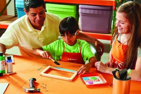 Home Depot 9月10日免费儿童手工课,制作白色手写板,9月另有3个家庭装修免费课程!