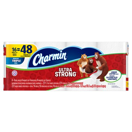 Charmin Ultra Soft/Strong 超软/超强 三层卫生纸16卷装 8.93加元限时特卖!