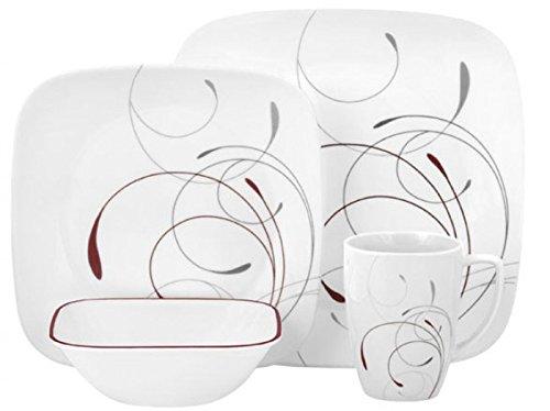 历史最低价!Corelle 康宁 Splendor 方形16件套餐具6.3折 49.96元限时特卖并包邮!