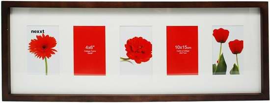 历史新低!nexxt Gallery Collage 实木壁挂相框2.2折 9.29元限时清仓!