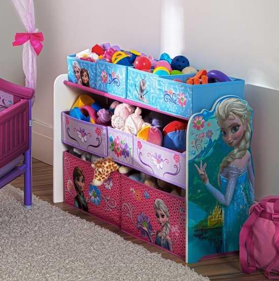 历史新低!Delta Children 迪士尼主题(米妮老鼠、冰雪奇缘、汽车总动员)豪华儿童玩具收纳架7.1折 49.97元限时特卖并包邮!