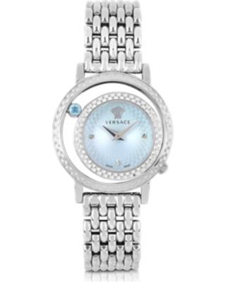 Versace 范思哲淡蓝色宝石女士石英腕表 627.04元,原价 838.8元,包邮