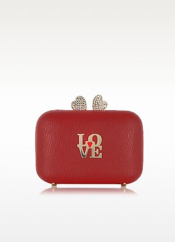 时尚女孩必败!Love Moschino 红色斜挎包 140.62元,原价 281.25元