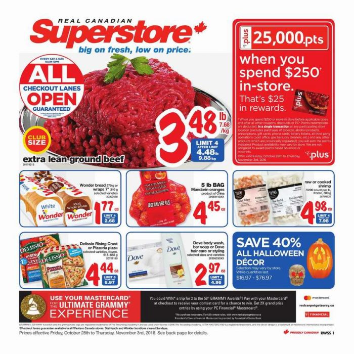 Superstore超市本周(2016.10.28-2016.11.3)打折海报