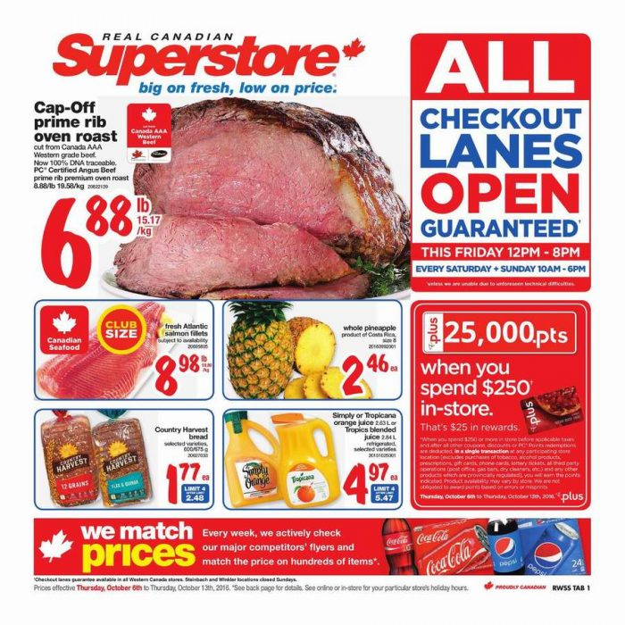 Superstore超市本周(2016.10.6-2016.10.13)打折海报