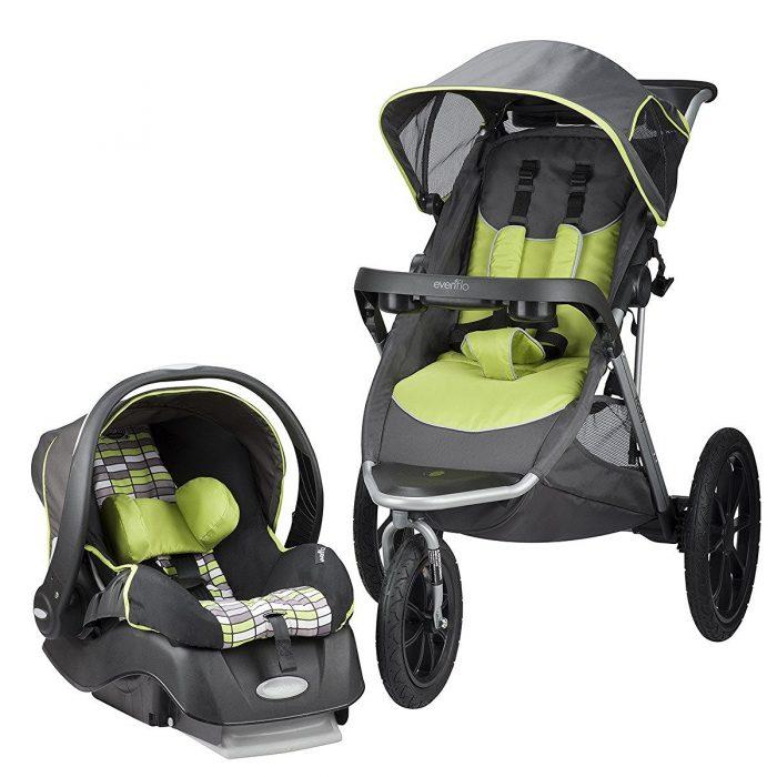 Evenflo Victory Jogging 大三轮婴儿推车+提篮安全座椅旅行套装 299.99加元限时特卖并包邮!