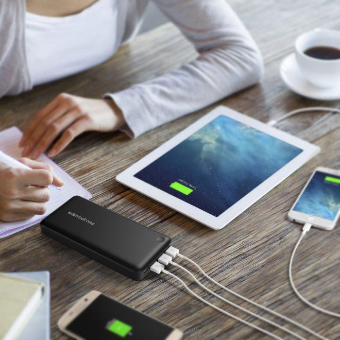 RAVPower 26800mAh 便携式移动电源充电宝 47.99元,原价 59.99元,包邮