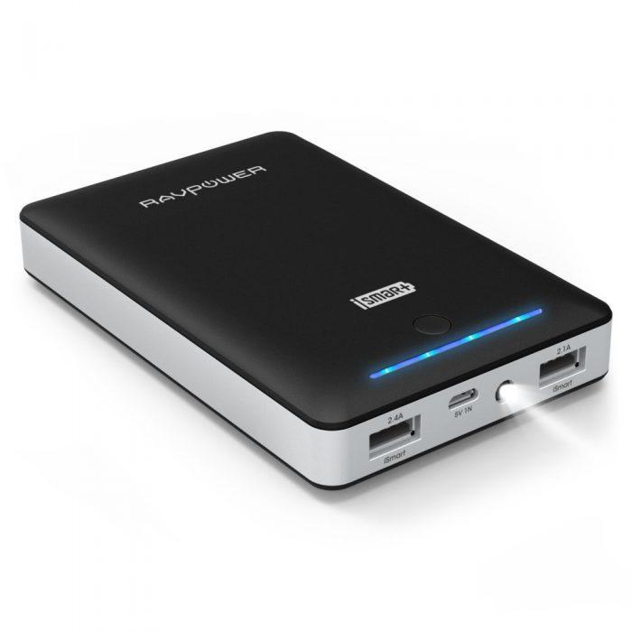 RAVPower 睿能宝 13000mAh 便携式移动电源充电宝 21.99元限量特卖,原价 32.99元