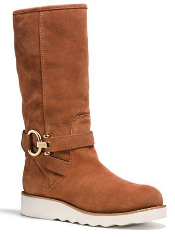 COACH Virtue 女款麂皮长靴 123元(5、10码),原价 328元,包邮