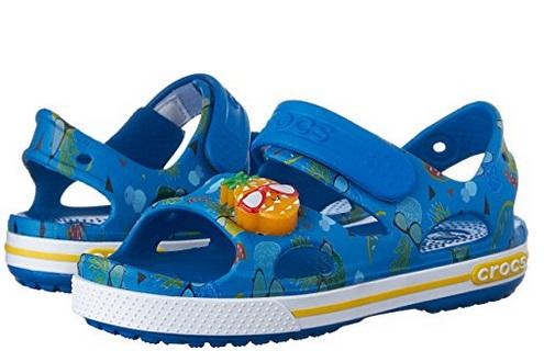 Crocs Kids Crocband II 菠萝装饰儿童凉鞋 10.76元起特卖,原价 56.14元