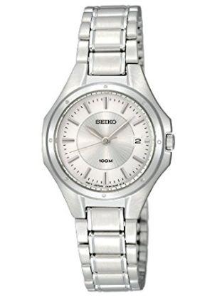 Seiko 精工 SXDE11 银色石英腕表 89.99元,原价 149.96元,包邮