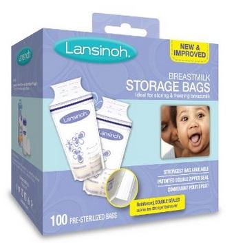 专为哺乳妈妈们设计!Lansinoh 100只装母乳储存袋 16.7加元,原价 28.46加元