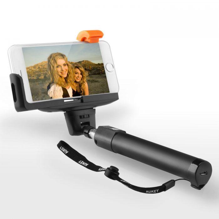 AUKEY 蓝牙遥控自拍杆 7.99元限量销售,原价 16.99元