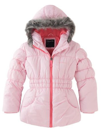 CALVIN KLEIN Glacial 女童连帽保暖外套 53.4元(2色),原价 89元