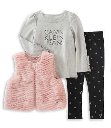 CALVIN KLEIN 宝宝服饰3件套 42元(1-2岁),原价 60元