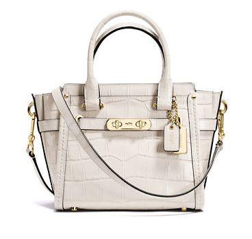 COACH Swagger Embossed 女士时尚压纹真皮肩背手提包5折 273元限时特卖并包邮!