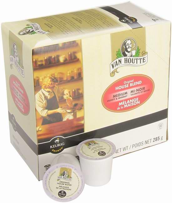 历史新低!Van Houtte House Blend K-Cups 原味家常烘焙咖啡胶囊30杯装 11.98元限时特卖!