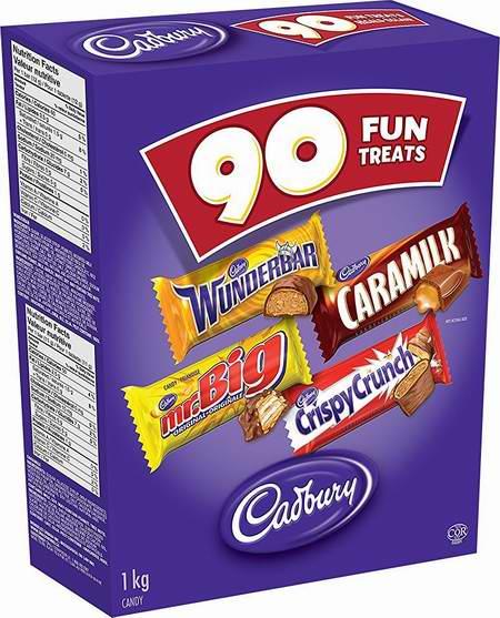 Cadbury 吉百利 Hal Choc 万圣节巧克力糖果90支装7.4折 13.97元限时特卖!