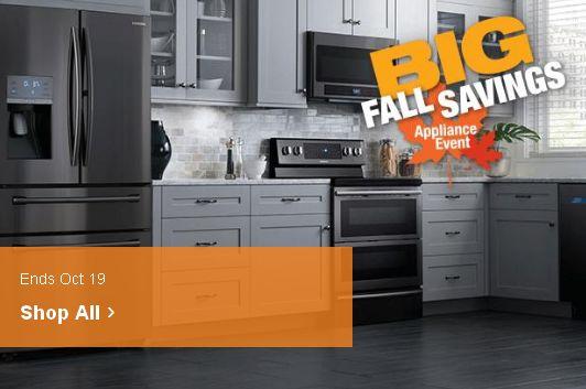 Home Depot 秋季家电大促销,精选487款厨房大家电特价销售!