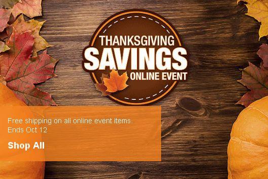 Home Depot 感恩节特卖,精选大量庭院用品、厨卫设施、家具、灯具、电动工具特价销售!全部包邮!