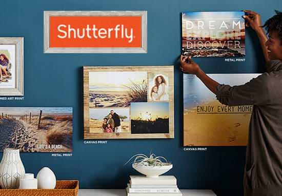 Shutterfly 冲印照片,制作相册等全场满20美元立减20美元!