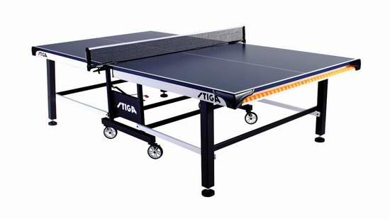 售价大降!历史新低!Stiga T8525 STS 520 锦标赛系列 折叠式室内乒乓球桌5.8折 773.56元限时清仓并包邮