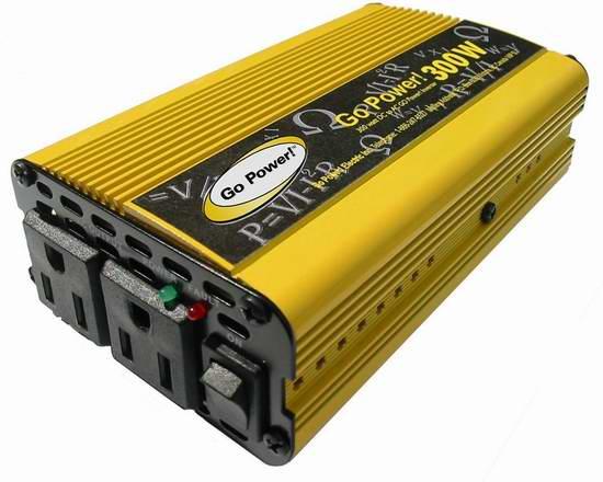 Go Power! GP-300 12V转110V 300瓦车载变压器2.8折 16.29元限时清仓!