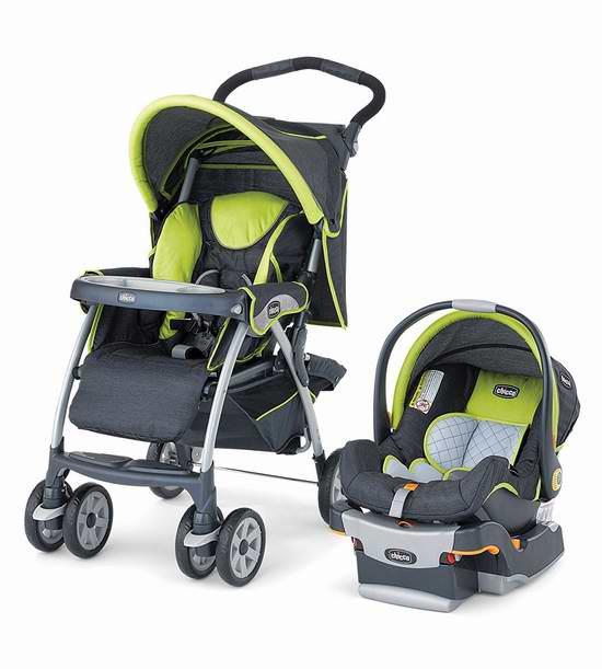 售价大降!历史新低!Chicco 智高 Cortina Zest SE 婴儿推车+提篮安全座椅旅行套装5.6折 255.97元限时特卖并包邮!