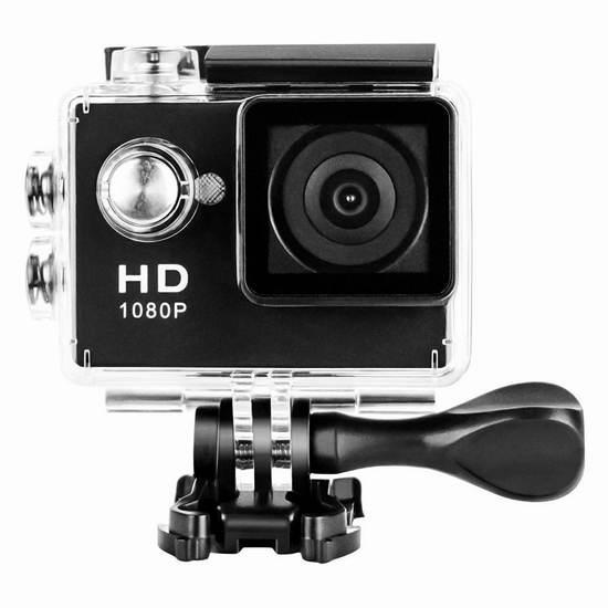 Wavetown DV-A9 1080P 全高清广角运动摄像机/相机/行车记录仪 33.14加元限量特卖并包邮!两色可选!