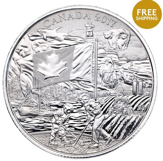 皇家铸币厂 2017加拿大精神纯银纪念币19.95加元包邮!
