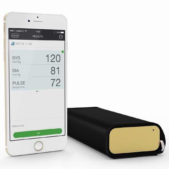 历史新低!Qardio QardioArm 无线智能血压计 119.26元限时特卖并包邮!