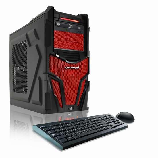 历史新低!Cybertron PC 冲击波 II GM2223C 游戏台式机4.6折 668.97元限时特卖并包邮!