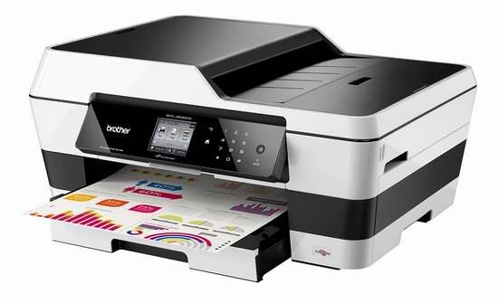 历史最低价!Brother 兄弟 MFC-J6520DW 多功能一体无线彩色喷墨打印机4.2折 125元限时特卖并包邮!