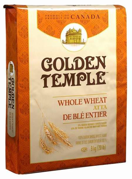 历史新低!Golden Temple 全麦 Atta 硬粒小麦面粉9公斤装 8.77元限时特卖!