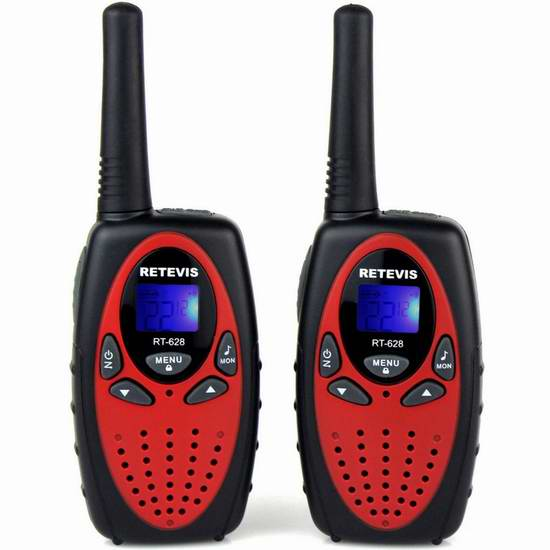 Retevis RT628 儿童远距离无线手台对讲机 25.49加元限量特卖!2色可选!