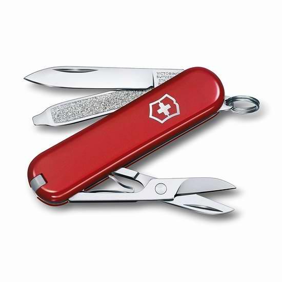 销量冠军!Victorinox Swiss 维氏正宗瑞士 7功能经典SD口袋刀4折 19.98加元!