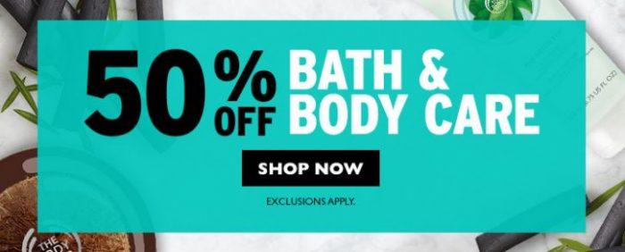 The Body Shop 美体小铺 精选144款美体、沐浴产品全部5折限时特卖!