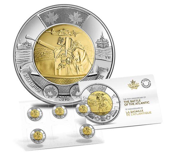 大西洋战争75周年纪念币5x2元套装,原价10元限时销售并包邮!