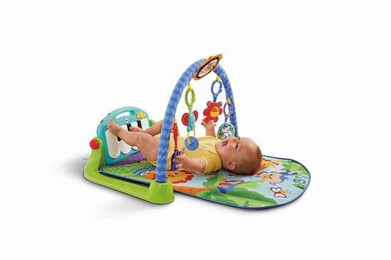 历史新低!Fisher-Price 费雪 Kick and Play 婴幼儿小钢琴音乐爬行毯/游戏垫 35.99元限时特卖并包邮!两色可选!