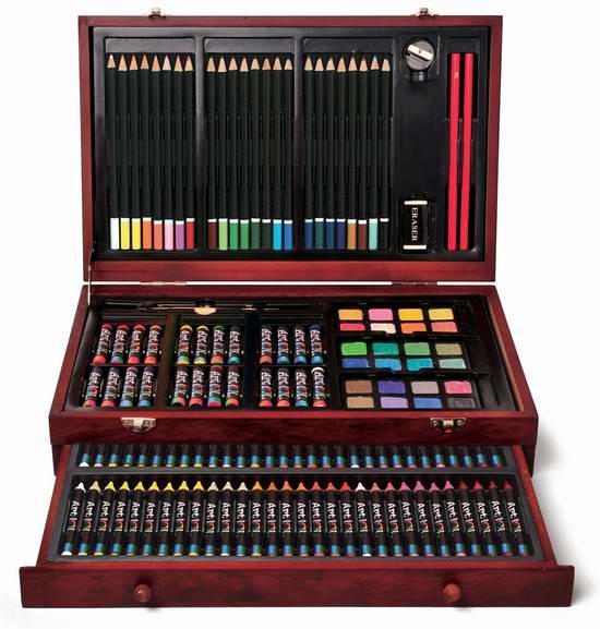 历史最低价!Art 101 142件套绘画木盒套装 26.97元限时特卖!