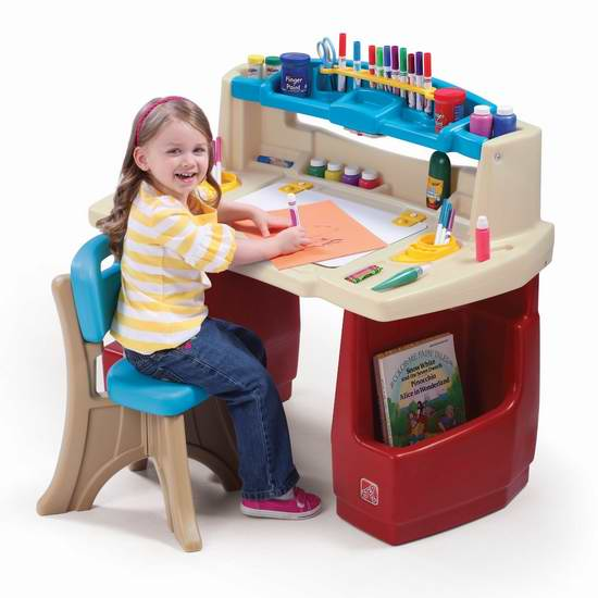 速抢!历史最低价!Step2 豪华小艺术家 儿童书桌椅套装5折 59.97加元包邮!
