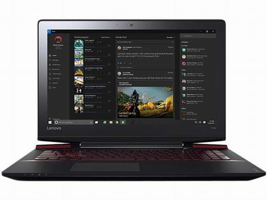 彪悍的小Y700!Lenovo 联想 Y700-15ACZ 游戏笔记本电脑6.5折 899.99元限时特卖并包邮!