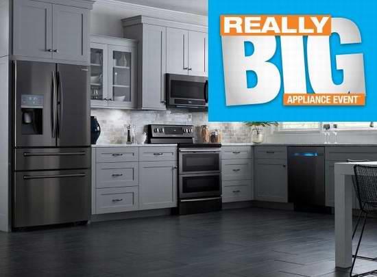 Home Depot Really Big家电特卖会,精选434款厨房大家电大折扣特价销售!