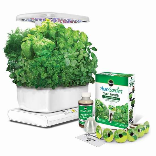 历史新低!Miracle-Gro AeroGarden Harvest 室内苗圃小花园及种子套装5.8折 119元限时特卖并包邮!