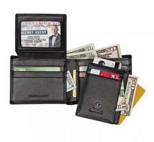 历史新低!TRAVAMI RFID防盗男士真皮钱包+钱夹礼盒装2.8折 24.95元限量特卖并包邮!