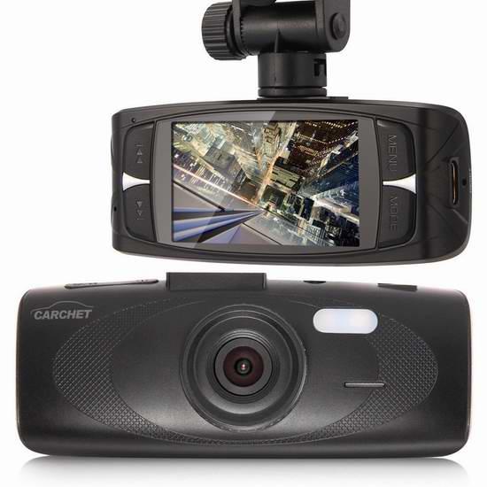 Carchet G1WH 2.7英寸屏超大广角1080P全高清行车记录仪 53.5加元限量特卖并包邮!