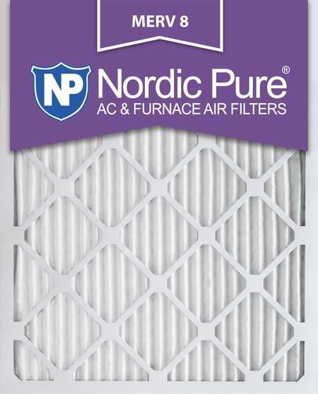 近史低价!Nordic Pure 16x25x1M8-6 MERV 8 防过敏空调暖气炉过滤网(16x25x1英寸 6件套)5.2折 41.79加元包邮!