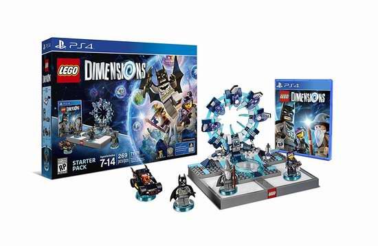 历史新低!《Lego Dimensions 乐高:次元》PS3/PS4/Xbox One版 游戏新手包套装6.1折 49.96元限时特卖并包邮!