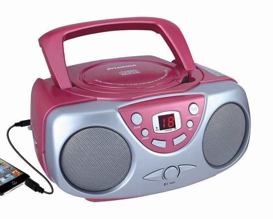 历史最低价!Curtis Sylvania SRCD243 便携式AM/FM收音+CD播放机6.2折 24.83加元限时特卖!
