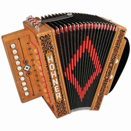 历史最低价!Hohner 德国霍纳 Accordions CAJUN IV 10键手风琴4折 499.99元限时特卖并包邮!